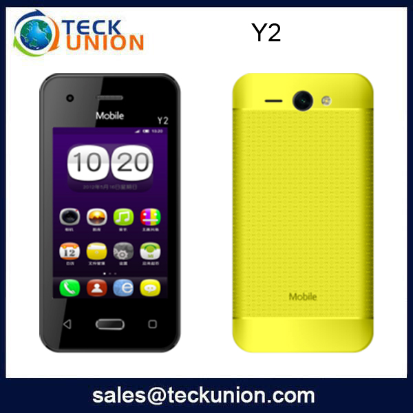 Y2 3.5inch low cost touch screen new arrive mobile phone dual cameras cell handset