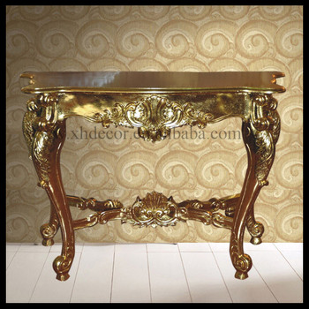 French Gold Ornate Wall Table Console Foyer Luxury Console