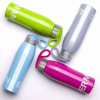14oz 420ml stainless steel sport bicycle water bottle with handle