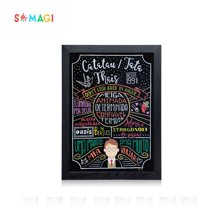 Special custom 40 * 30cm small wooden chalkboard dry erase board for restaurant