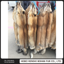 Natural Real Color Factory Price Wholesale Red Fox Skins Price