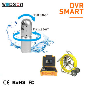 Cctv video camera system for storm water pipes inspection