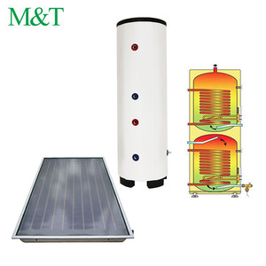 Guangzhou heat exchange solar collectors galvanized hot water tank 100 liter