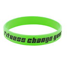 100% Silicone customized silicone wristband green debossed engrave logo wrist band