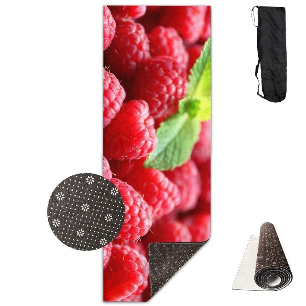 Raspberries Delicious Red Fruit ECO Aqua Power Kinematic Iyengar Kundini Hot Pilates Gymnastics Hatha Yoga Mat Exercise Mat