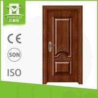 Popular in Yemen market high quality steel wood door with entrance design from china