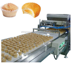 Complete full automatic industrial european style cake production line muffin cake production line custard cake production line
