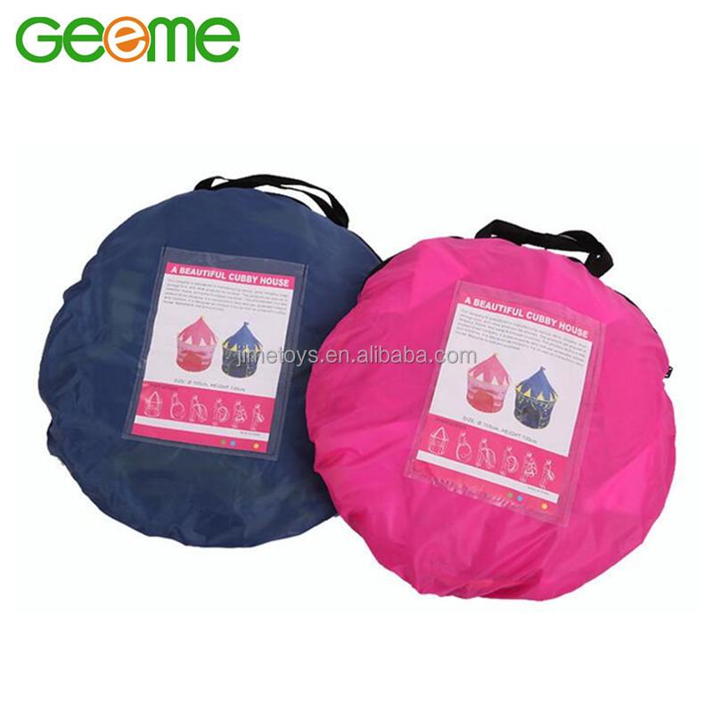 JT010 Portable Folding House Polyester Children Castle Play Tent