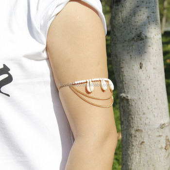 Upper Arm Bracelet Slave Harness Tassels Chain Gold Silver Cuff Armlet -  Buy Upper Arm Bracelet,Armlet,Upper Arm Cuff Product on Alibaba com