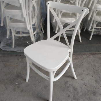 crossback resin dining chair for wedding use