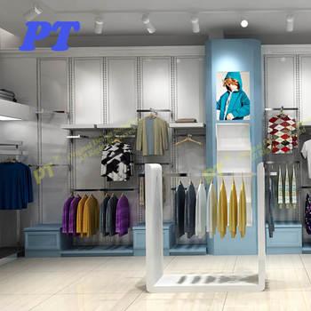 8618fcb753 Hanging Clothes Rack Menswear Garment Shop Interior Design Of Boutique In  India