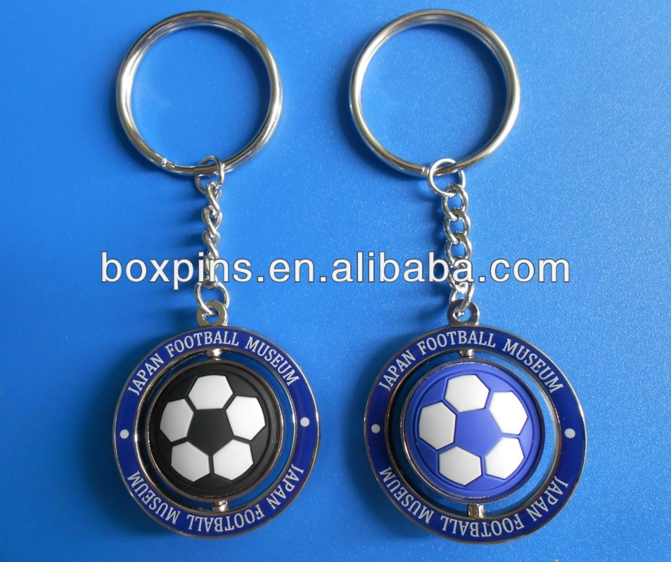 hot selling 3D ball keychain, football shaped keychain, keychain for museum