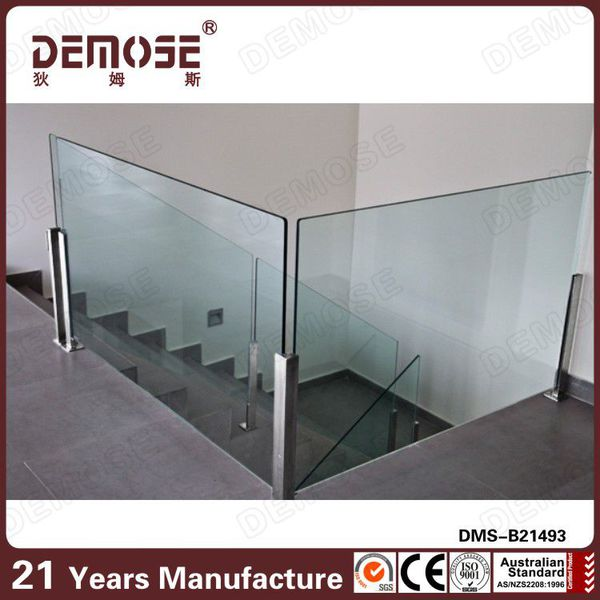 New Design Aluminium U Channel Frameless Glass Railing For Balcony ...