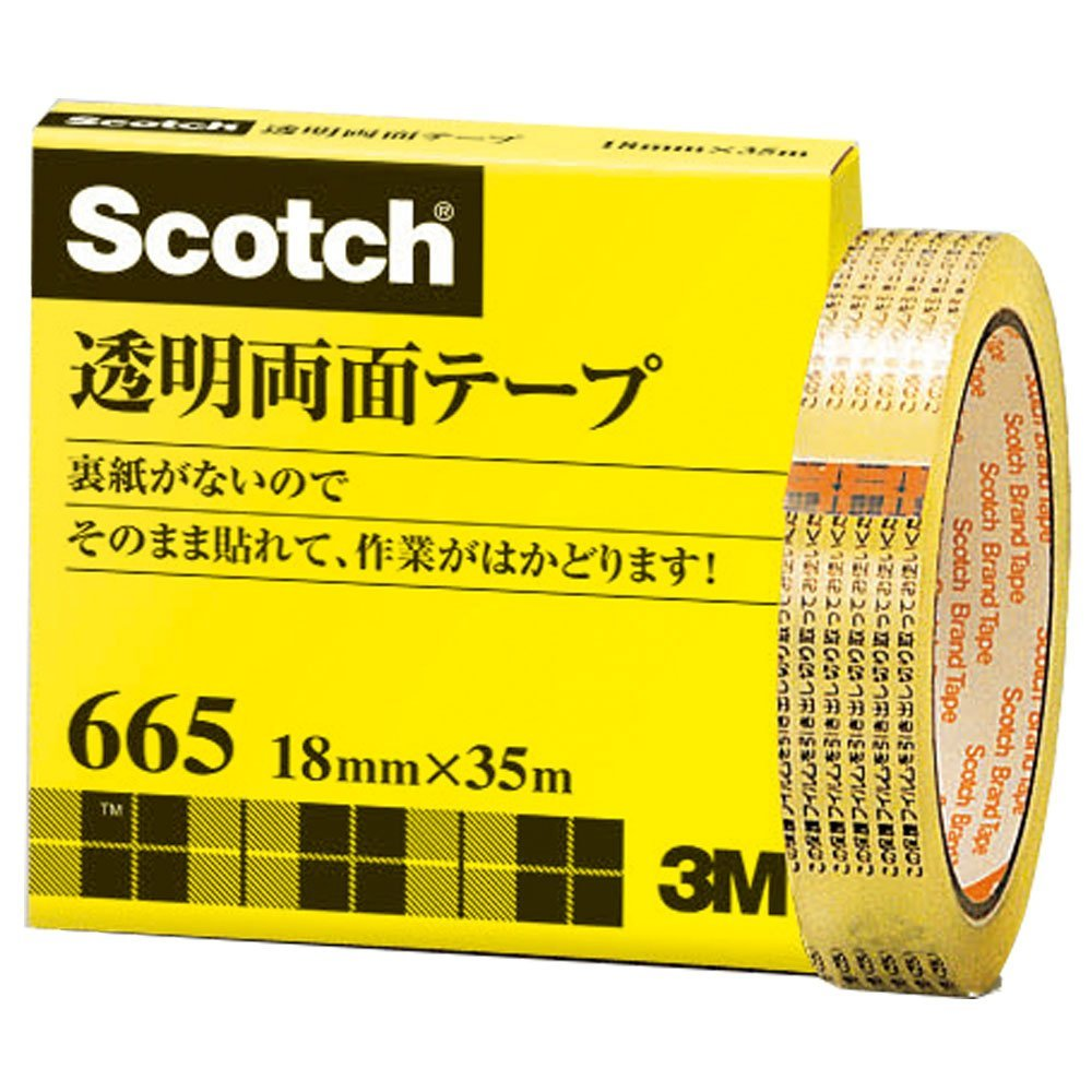 Paper Box 18mm x 35m 665-3-18 without Sumitomo (3M) Scotch (R) transparent double-sided tape liner (japan import)