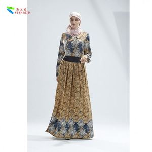 YIZHIQIU Robe Clothing From Turkey National Print Muslim Women Party Dress