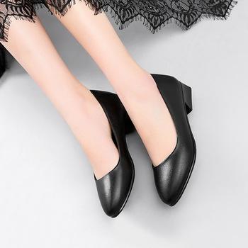Señora En Calidad El Tacón Alto Mujeres La Trabajo Mejor Fábrica Tamaño Azafata Zapatos De Para Las Gran Lugar Cuero FT35uK1clJ