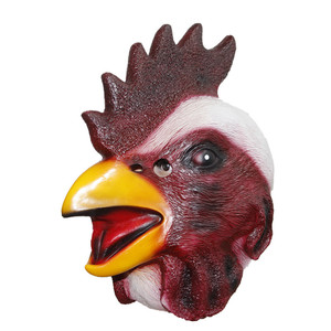 Masquerade Party Supplies Latex Cock Rubber Rooster Chicken Head Mask