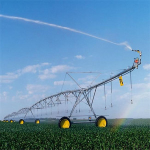 Central pivot irrigation system watering