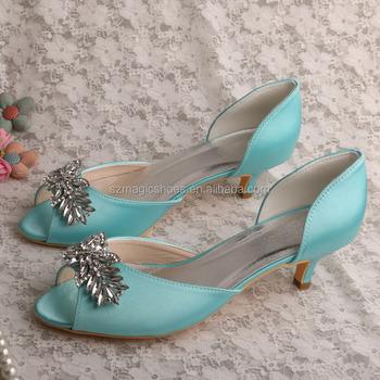 cb82d066070b4c Wedopus Mint Green Bridal Wedding Shoes