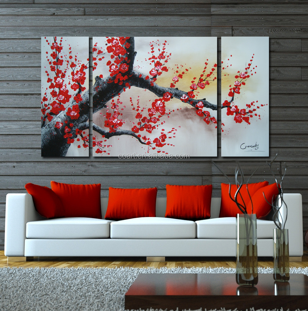 Free Sample 2015 Modern Decorative Wall Hanging Flowers Painting ...