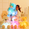 Creative toy Cute teddy bear cute plush toy doll pillow LED glow pillow soft light up
