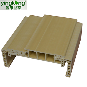 Chinese popular pvc laminate wpc door frame, Wood Plastic Composite PVC Door and PVC door Jamb