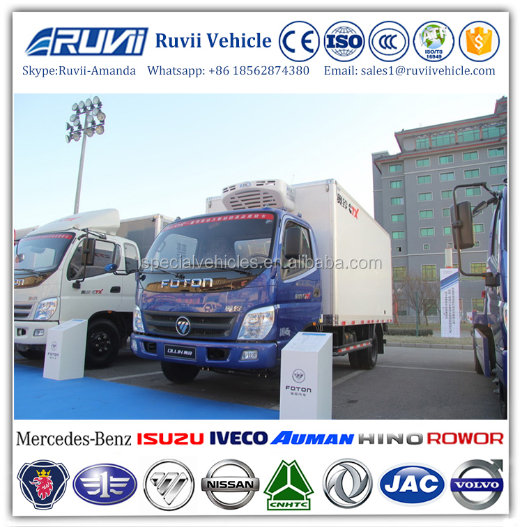 2016 diesel refrigerator freezer cargo van, right hand driving type refrigerated truck, 4 ton freezer refrigerated truck