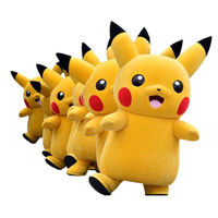 Hot sale Pikachu pokemon mascot costume for adult,cosplay game cartoon character costume mascot