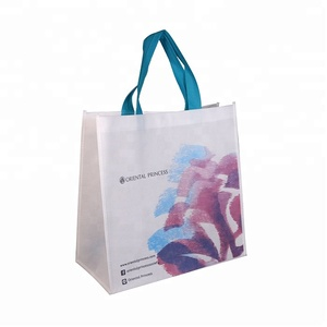 China personalized tradeshow reusable tote non woven pp bag Eco Printed Non woven bag For Storage Promotional Use