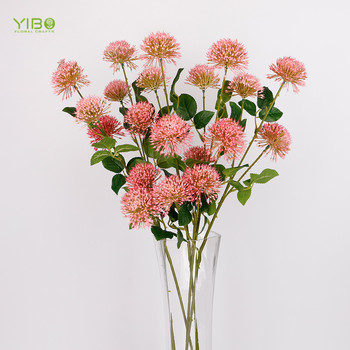 Top Grade Real Like Pink Real Touch Artificial Dandelion Flower for Sale