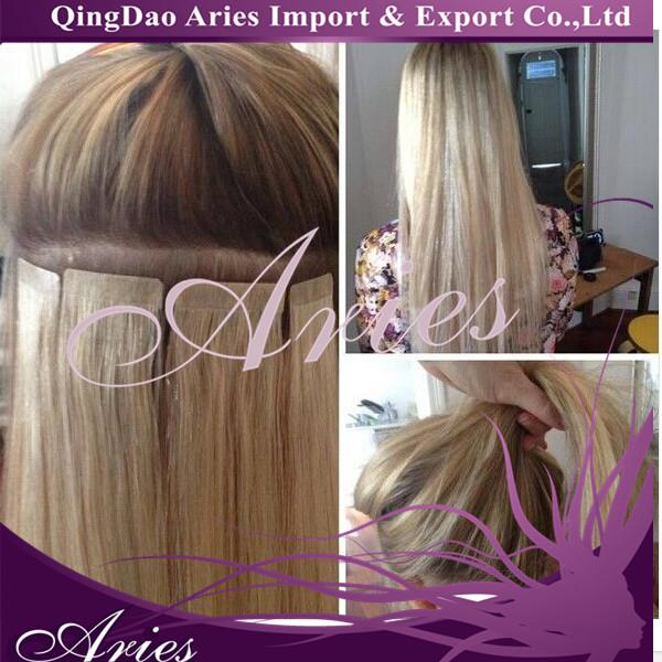 Fashion Keratin Fusion Seamless Skin Weft Hair Extension 40p100g