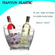 plastic doulbe bottle ice bucket holder for bars beer and wine wholesale