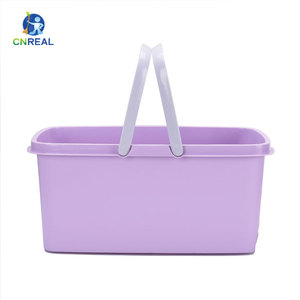 Plastic Wheel Roto Mop Collapsible 360 Wringer Spinn And Small Sir Interchange Handle Double Heavy Duty Mop Bucket