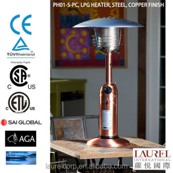 Mushroom Outdoor Natural Gas Patio Heater With Bar Table