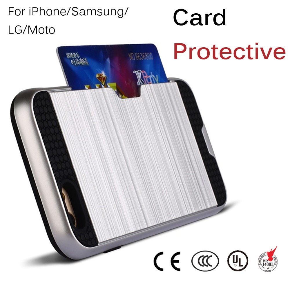 2017 new products credit card wallet holder for iphonecase 6s