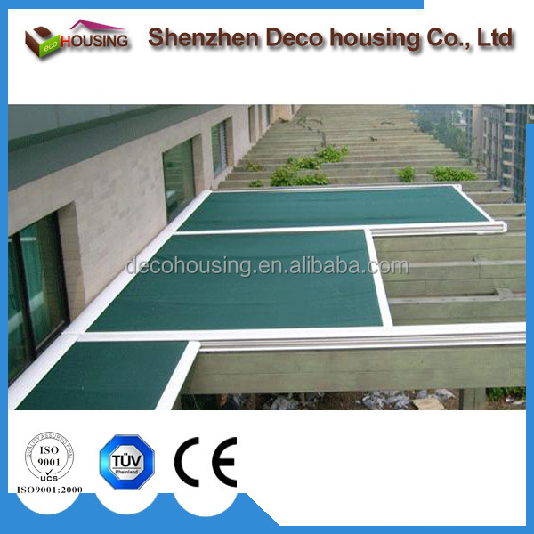 Modern design remote control roof awning/motorized skylight roof