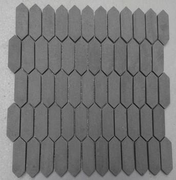 Foncé Gris Marbre Allongé De Forme Hexagonale Carrelage Mural - Carrelage hexagonal gris