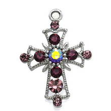 Christian cross religious jewelry crystal charms as gift for women jewelry
