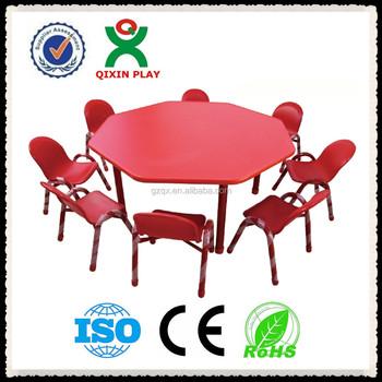 Preschool Desks For Kids Children Plastic Table Lots Furniture Qx 195e
