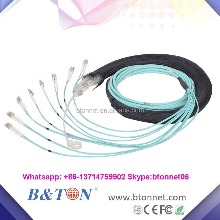 Fiber Optical OM3 20 Meter with pulling eye and socket MPO to MPO Jumper
