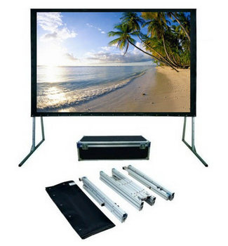 Fast Fold Deluxe Portable Projection Screen 92 Diagonal 4580