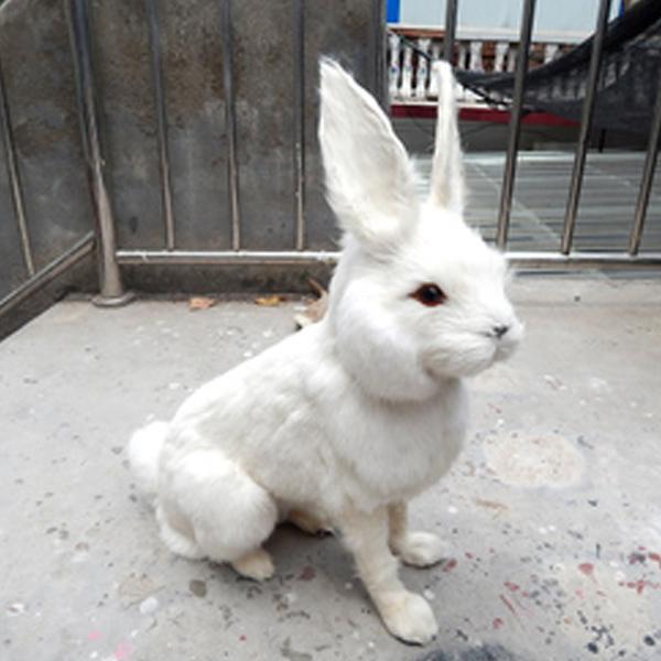 Rabbit Make Fur Life Size Animal Replica Easter Realistic Bunny