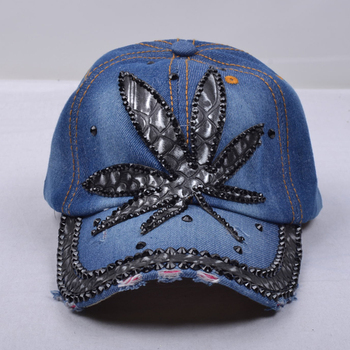 acbbd930edead rhinestone crystal studded blue denim Hats wholesale fashion rhinestone  baseball hat custom rhinestone hats