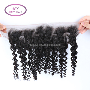 Cheap No Tangle No Shedding Swiss Lace Pre Plucked Ear To Ear Lace Frontal Remy Human Raw Hair online sale
