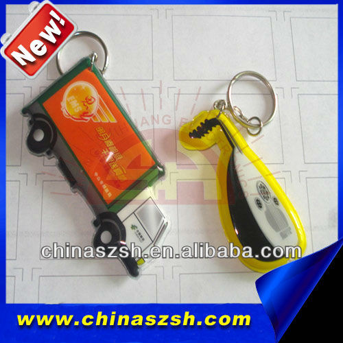vivid light up LED PVC key chain with bright light for promotion