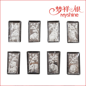 Myshine 990 sterling silver pandas silver coins silver coin packing