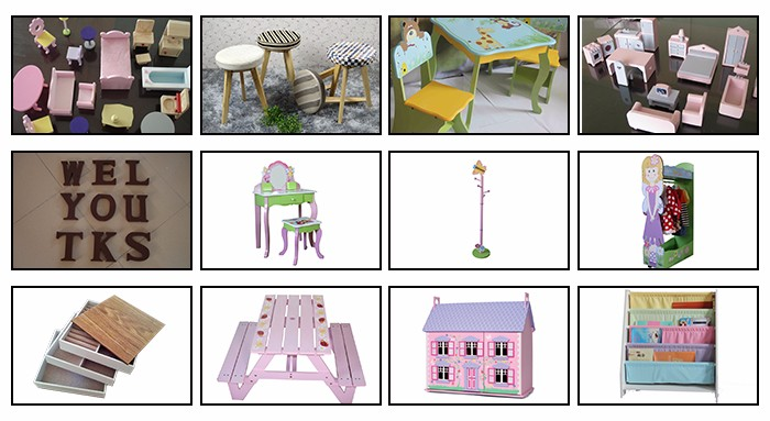 2016 best sale beautiful miniatures wooden toy doll house for baby