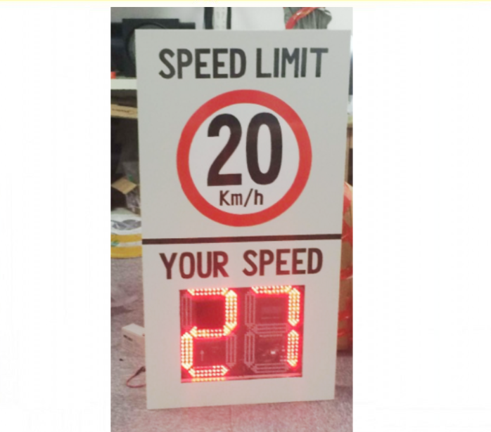 LED Radar Speed Limit Sign Speed Tester Display,White solar speed radar sign