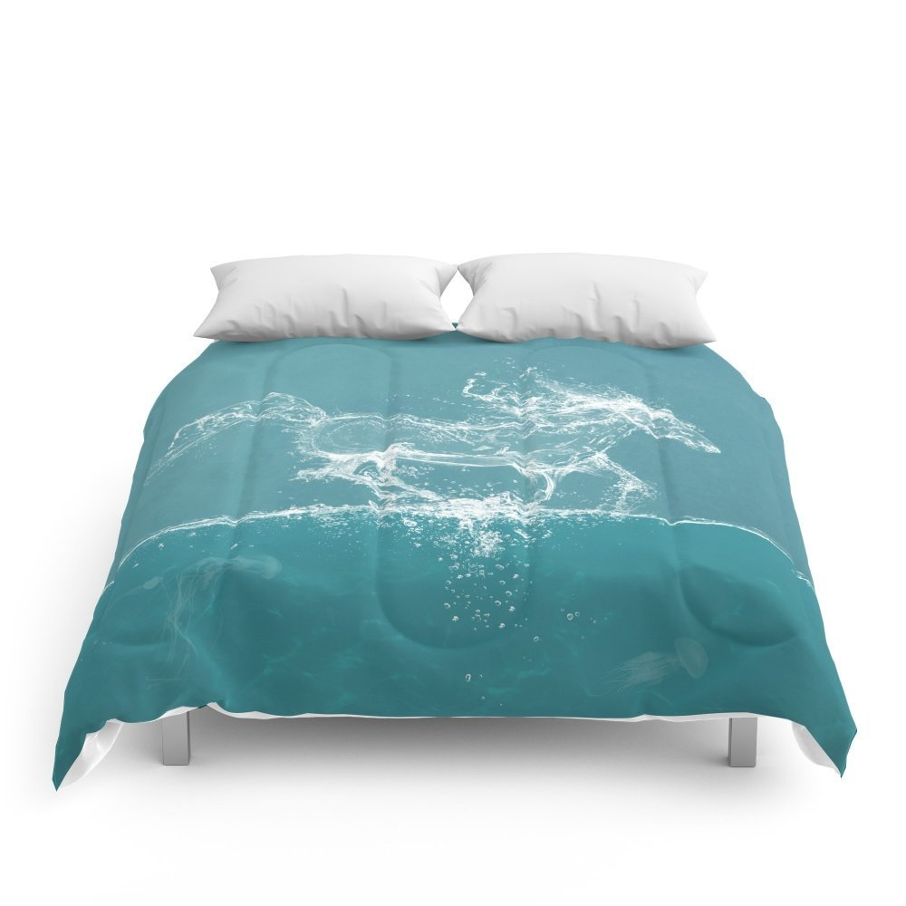 """Society6 The Water Horse Comforters Queen: 88"""" x 88"""""""