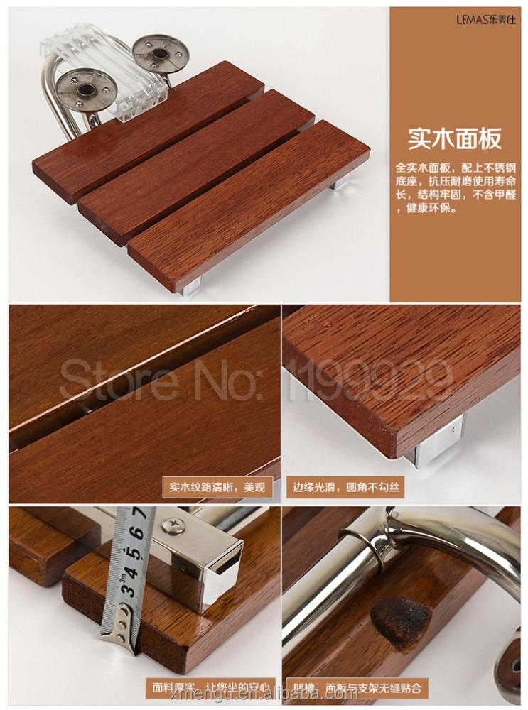 Bagno doccia sedile sedia pieghevole sedia di legno parete ...